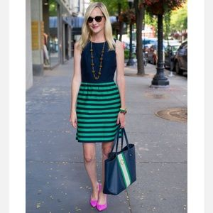 Vineyard Vines Navy and Green Striped Dress Size 6